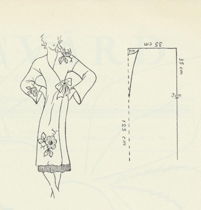 Kimono kaava LS 1934 No11