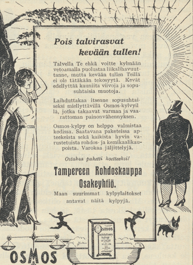 KL no 9 vuosi 1928 Osmoksen mainos