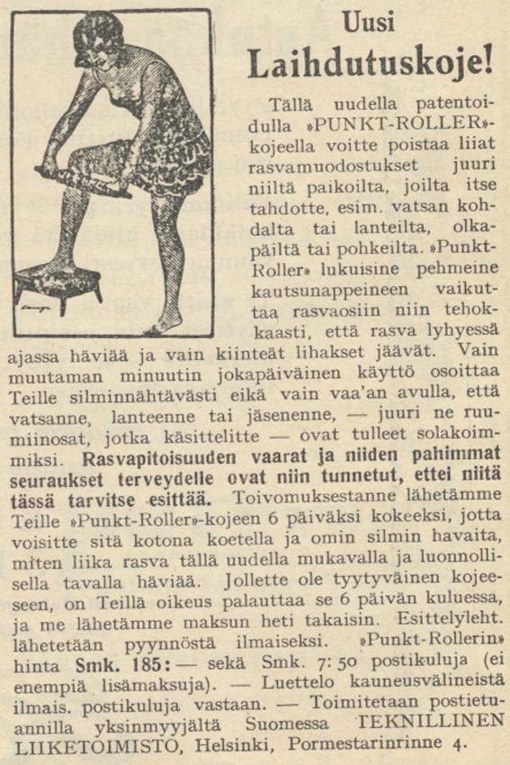 Kl No 1 vuosi 1927 uusi laihdutuskone