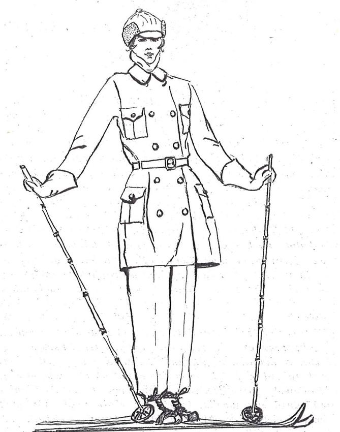 Lottien hiihtopuku 1929