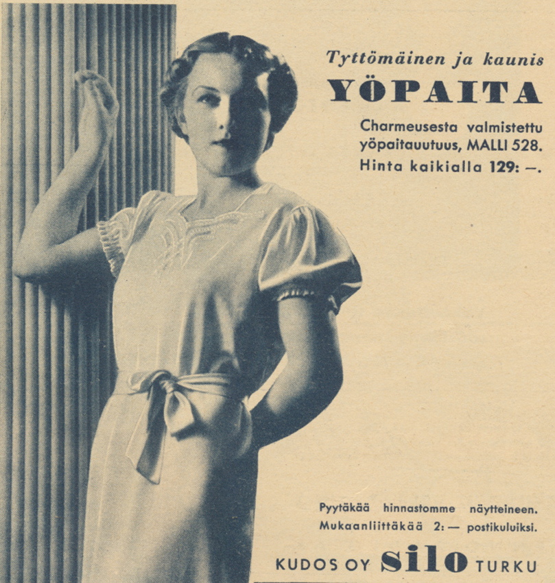 Silo yöpuku Kl 1937 No 19