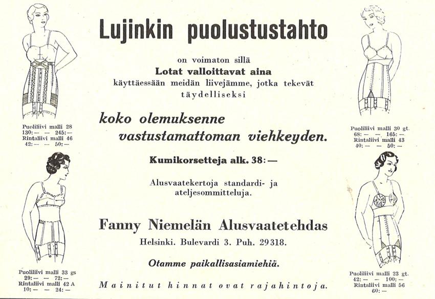 LS 1936 Alusvaatteet