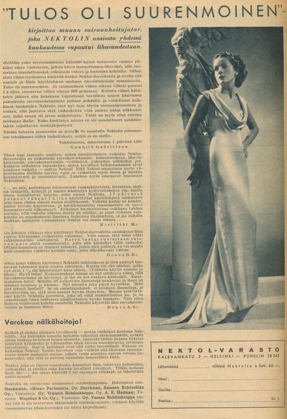 Nektol KL No 2 vuodelta 1937