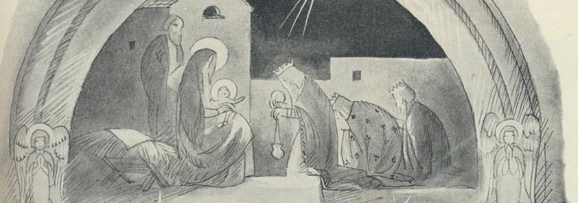Piirros Joululotta vuosi 1934 rajattu